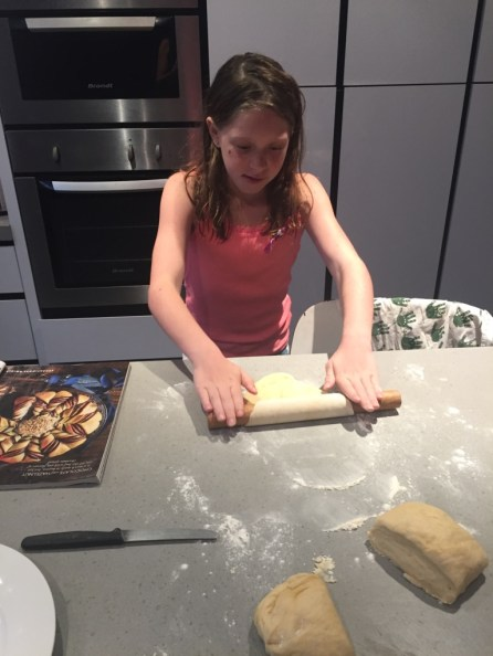 While Scarlet got on with the dough rolling.